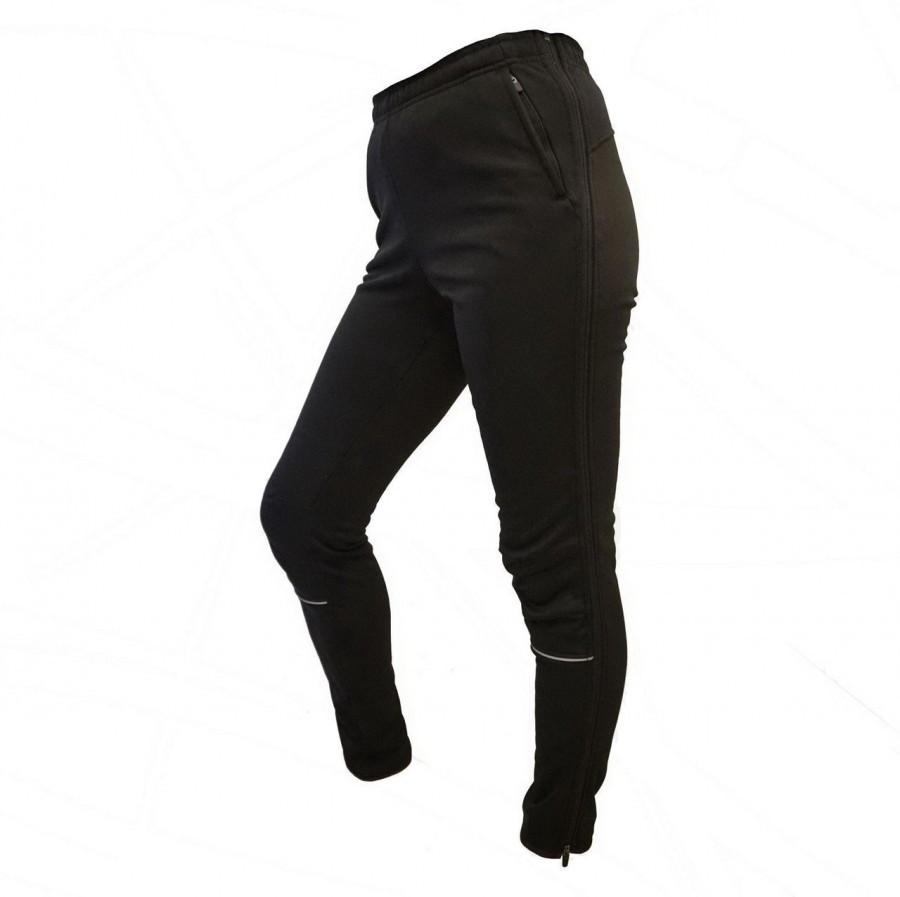 Лыжные штаны-самосбросы Olly Bright Sport (140401) черные с ветрозащитной мембраной фото