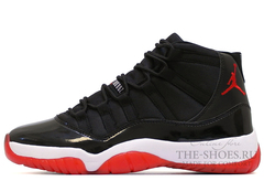 Кроссовки Мужские Nike Air Jordan XI Retro Black White Red