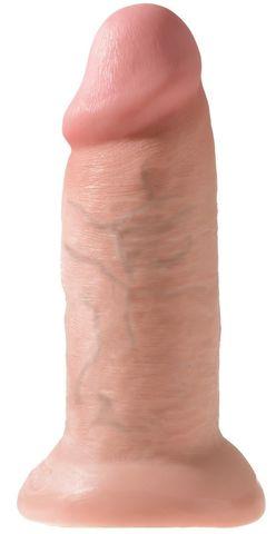 Телесный фаллоимитатор King Cock 10  Chubby - 25 см.
