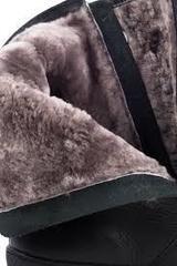 Зимние полусапожки при высоком подъеме