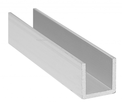 Алюминиевый швеллер 15x12х15х2,0 (3 метра)