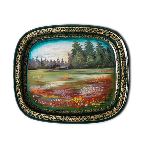 Unique zhostovo metal tray by Natalia Frolova K35A1845