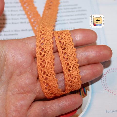 Кружево вязаное КХ3-О (оранжевое) 90см
