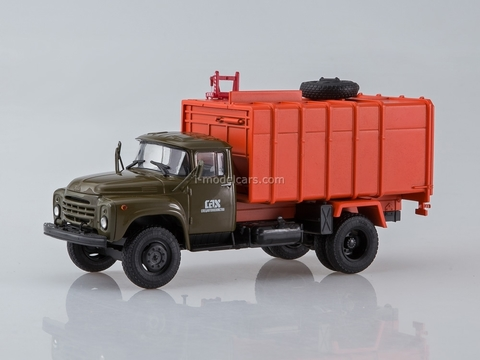 ZIL-130 KO-413 garbage truck late design radiator khaki-orange 1:43 AutoHistory