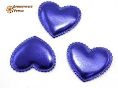 Мягкие сердечки синие