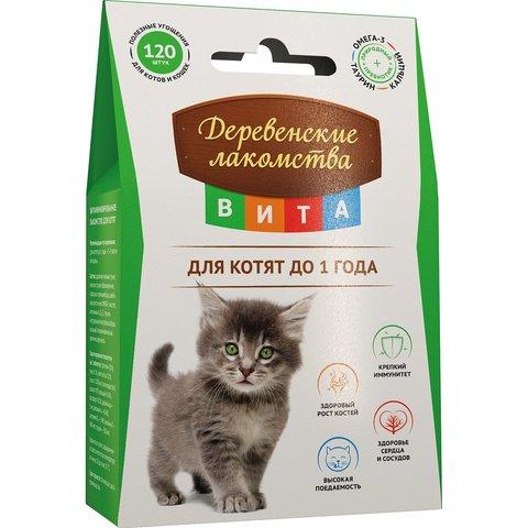 Деревенские лакомства Вита витамины для котят 60г