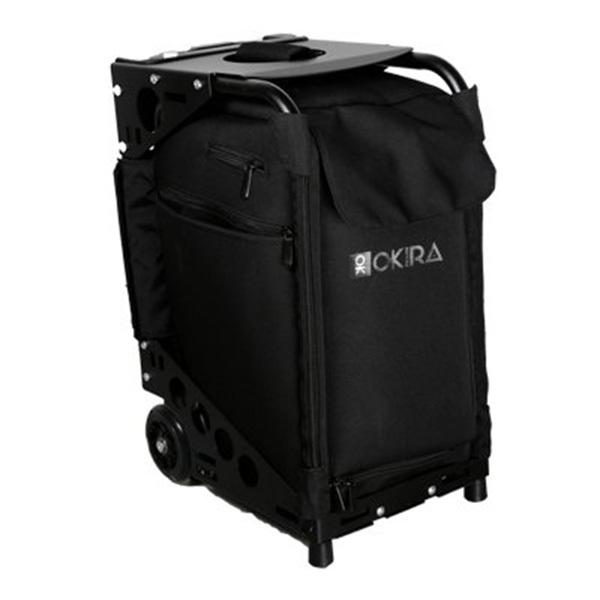 Сумка-чемодан визажиста-стилиста на колесиках Okira Black фото