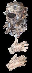 Комплект маскировочный (шлем-маска, перчатки) / сетка трикотажная / камыш