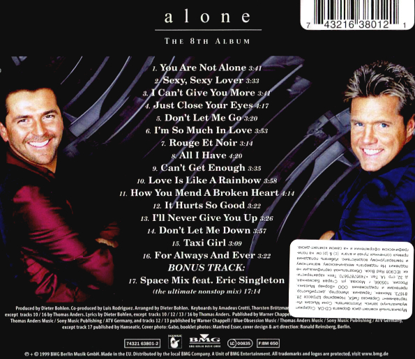 Modern Talking - Alone (The 8th Album) Club Sampler