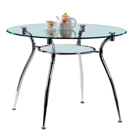 Стол обеденный W-01 круглый стекло