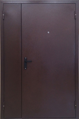 Дверь входная Меги ДС-764, 1 замок, 1 мм  металл, (античная медь+античная медь)