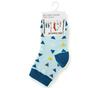 Носочки для малышей голубые с рисунком Треугольники