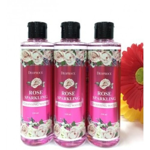 Deoproce Rose Sparkling Cleansing Water