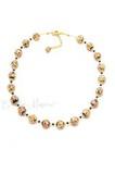 Ожерелье Арлекино золотистое, крупные бусины