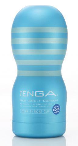 Мужской мастурбатор TENGA Deep Throat Cool Edition с охлаждающим эффектом
