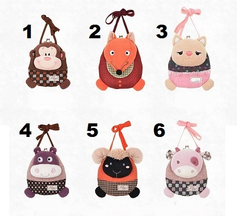 Bag Purse Plush For Girls Kids Set 4