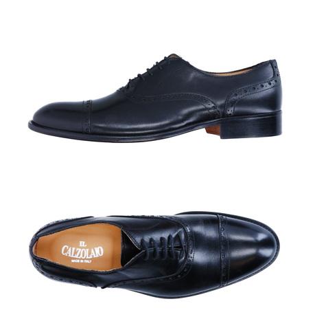 Чёрные кожаные cap-toe ботинки оксфорд Il Calzolaio Made in Italy