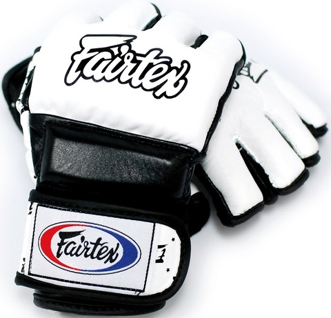 Перчатки MMA Fairtex Sparring Gloves FGV17 White/Black