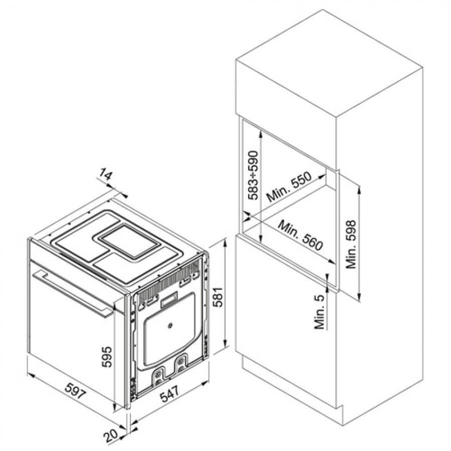 Электрический независимый духовой шкаф Franke FS 913 M CH DCT TFT