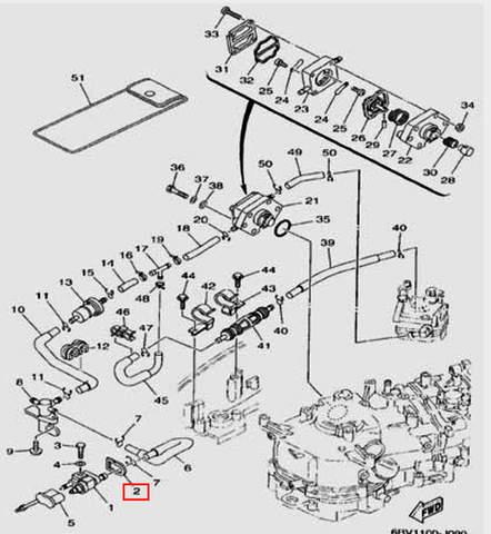 Уплотнитель для лодочного мотора F5 Sea-PRO(9-2)