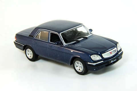 GAZ-31105 Volga dark blue 2003-2010 1:43 DeAgostini Auto Legends USSR #211