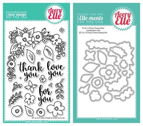 Комплект силиконовых штампов +НОЖИ  - Floral Frame