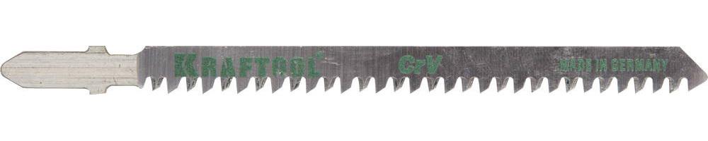 Полотна KRAFTOOL, T234X, для эл/лобзика, Cr-V, по дереву, фанере, ДВП, чист. рез, EU-хвост., шаг 2-3мм, 90мм, 2шт