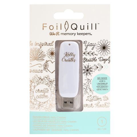 Флешка с набором картинок -We R Memory Keepers Foil Quill USB Artwork Drive Kelly Creates