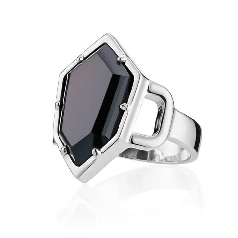 Кольцо HONU - Черный оникс