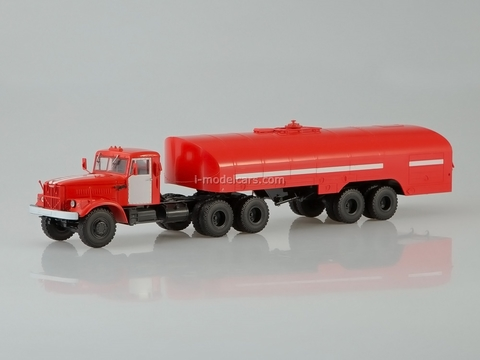 KRAZ-258B1 with semitrailer-tanker TZ-22 fire engine 1:43 AutoHistory