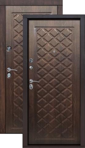 Дверь входная Цитадель Kamelot винорит, 2 замка, 1,5 мм  металл, (вишня тёмная+вишня тёмная)
