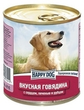 Happy Dog Консервы для собак Говядина с сердцем, печенью и рубцом  12х750 гр. (72219)