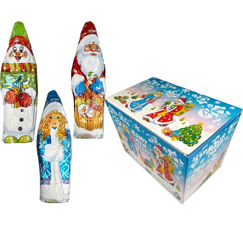 Ассорти Дед Мороз, Снегурочка, Снеговик 1кор4бл24шт 60гр.