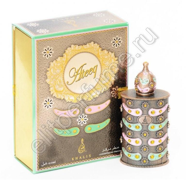 Ateeq Атик Халис 20 мл арабские масляные духи от Халис Khalis Perfumes