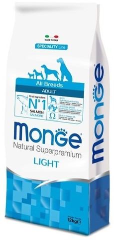 Monge Dog Speciality корм для собак всех пород  лосось с рисом 12 кг
