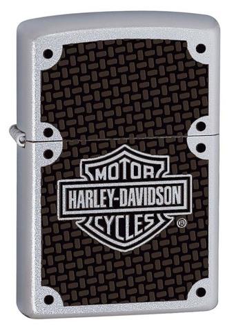 Зажигалка ZIPPO Classic Satin Chrome™ Harley-Davidson ZP-24025
