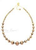 Ожерелье Арлекино золотистое длинное