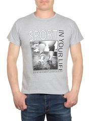0714-5 футболка мужская, серая