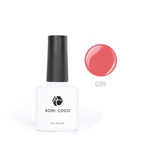 Цветной гель-лак ADRICOCO №039 оранжевый коралл (8 мл.)