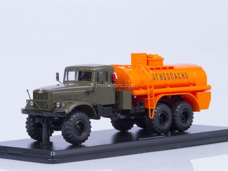 KRAZ-255 AC-8.5 metal chassis khaki-orange Start Scale Models (SSM) 1:43