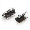 Концевик для лент 13 мм (цвет - черный никель), 10 штук
