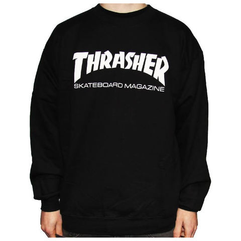 Толстовка (свитшот) THRASHER Skate Mag Crew Black