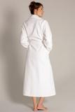 Белый махровый халат Taubert