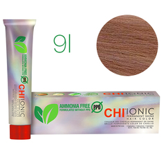 9i CHI Ionic (Светлый радужный блондин) - стойкая БЕЗАММИАЧНАЯ краска для волос 90мл