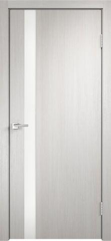 > Экошпон VellDoris Smart-Z1, стекло лакобель белое, цвет дуб белый, остекленная