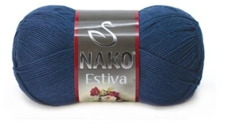 Пряжа Nako Estiva темно-синий 6955