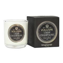 Ароматическая свеча Voluspa Искрящееся шампанское в маленьком подсвечнике