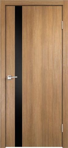 > Экошпон VellDoris Smart-Z1, стекло лакобель чёрное, цвет дуб золотой, остекленная