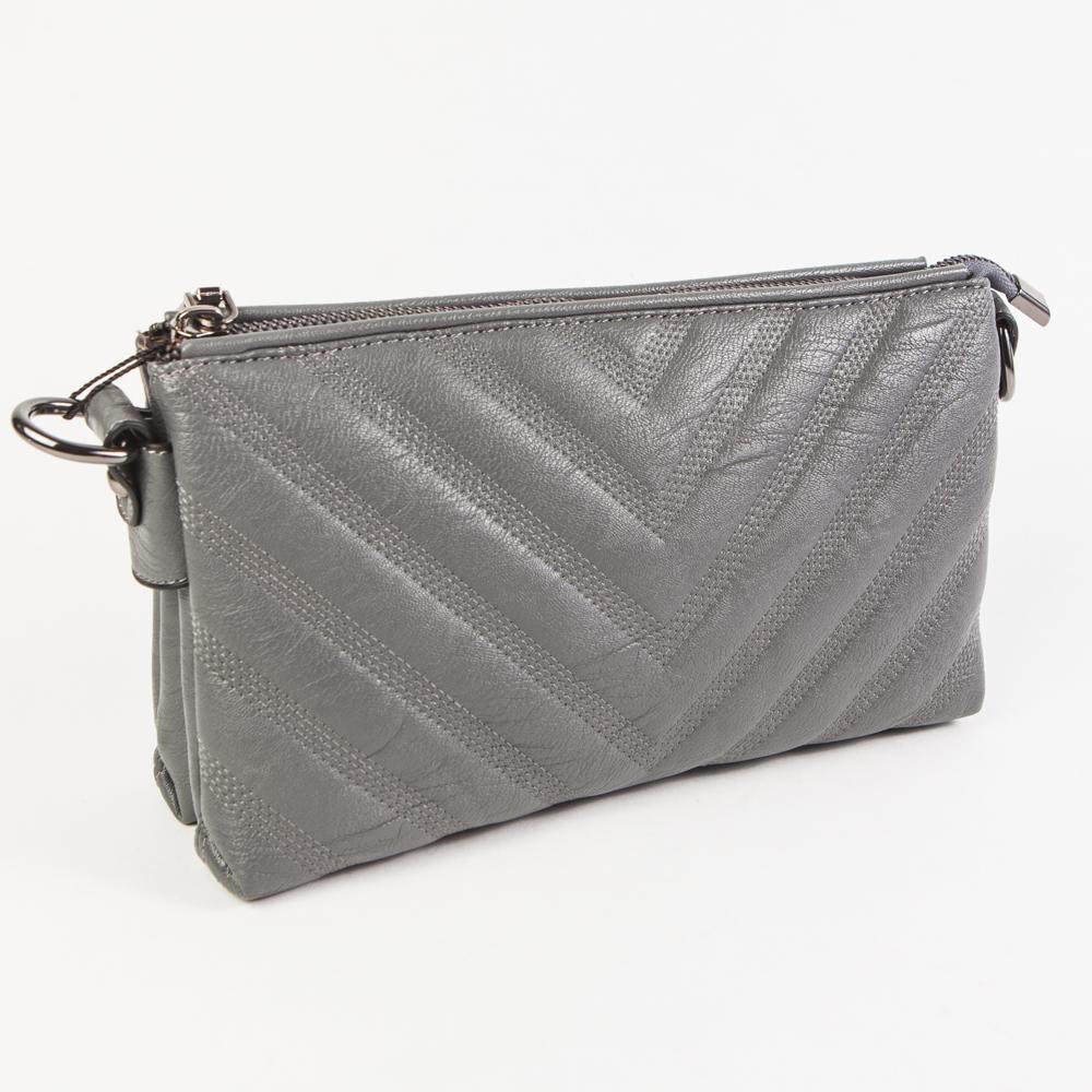 9a481d20ebc8 Маленький стильный женский повседневный клатч сумочка серого цвета из  экокожи Dublecity DC807-2 Grey