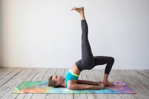 Коврик для йоги Мана 183*61*3,5мм из микрофибры и каучука